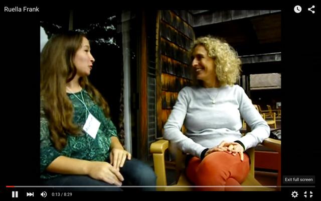 Screen-cap Ruella Frank video interview